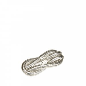 Chanel CC Silver-Toned Metal Brooch