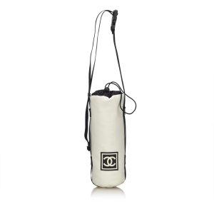 Chanel Bolsa de hombro blanco Nailon