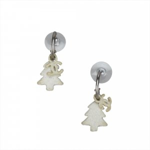Chanel CC Tree Drop Earrings