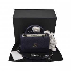 Chanel CC Trendy Top Handle Bag Denim @mylovelyboutique.com