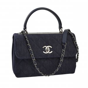 Chanel CC Trendy Top Handle Bag Denim @mylovelyboutique.com