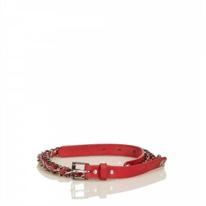 Chanel Belt red leather