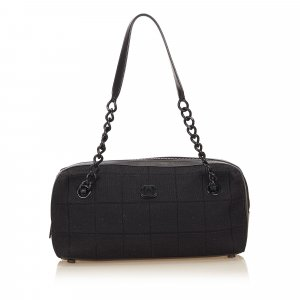 Chanel Choco Bar Canvas Shoulder Bag