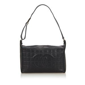 Chanel Choco Bar Lambskin Leather Handbag