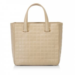 Chanel Choco Bar Lambskin Leather Tote Bag
