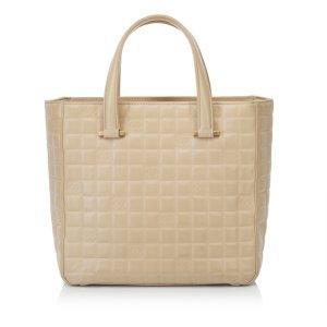 Chanel Choco Bar Lambskin Leather Tote Bag
