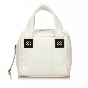 Chanel Choco Bar Leather Handbag