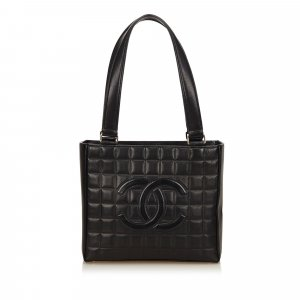 Chanel Choco Bar Leather Shoulder Bag