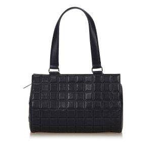 Chanel Choco Bar Leather Shoulder Bag