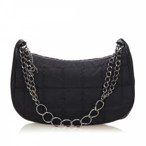Chanel Choco Bar Nylon Chain Shoulder Bag