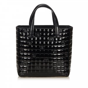 Chanel Choco Bar Patent Leather Handbag