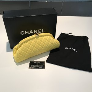 Chanel Clutch yellow leather