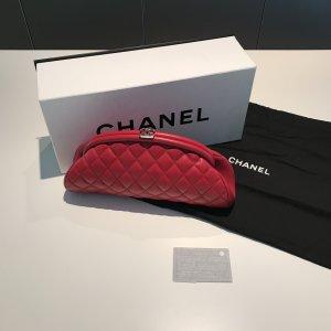 Chanel Classic Clutch Tasche Rot OVP Original mit Rechnung