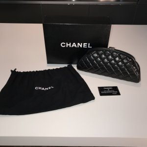 Chanel Clutch black leather
