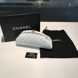 Chanel Clutch white leather