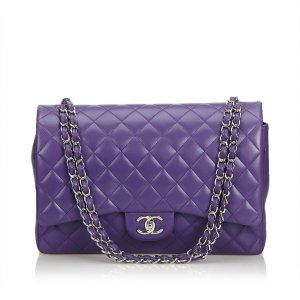 Chanel Classic Maxi Lambskin Leather Double Flap Bag