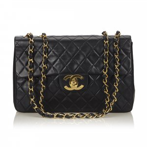 Chanel Classic Maxi Lambskin Leather Single Flap