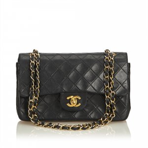 Chanel Classic Medium Lambskin Leather Double Flap Bag