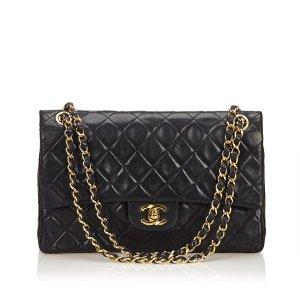Chanel Classic Medium Leather Double Flap Bag