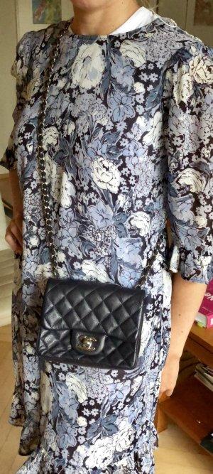 Chanel Mini sac bleu foncé cuir
