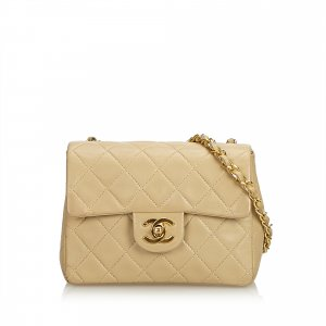 Chanel Classic Mini Square Lambskin Leather Single Flap Bag