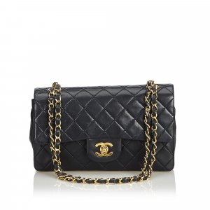 ba79f0da0b02e Chanel Classic Small Lambskin Leather Double Flap Bag