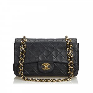 Chanel Classic Small Lambskin Leather Single Flap Bag
