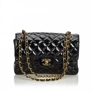 Chanel Classic Small Patent Leather Double Sided Bag