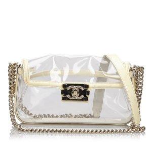 Chanel Crossbody bag white polyvinyl chloride