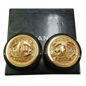 Chanel Pendant d'oreille doré