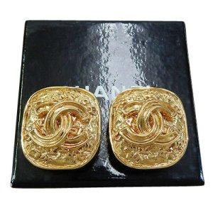 Chanel Pendant d'oreille doré or