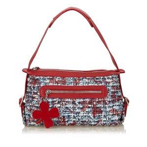 Chanel Schoudertas rood Katoen