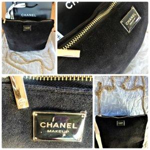 Chanel Clutch , Makeup Kosmetiktasche Neu Schwarz mit Gold Kette