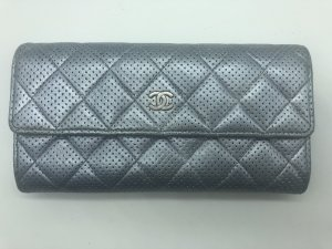 Chanel Clutch silver-colored-grey