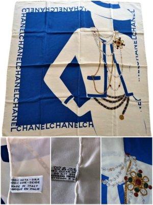 Chanel Écharpe en soie multicolore soie