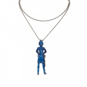Chanel Necklace blue metal