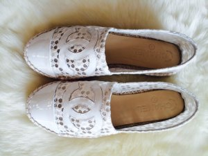 Chanel Cruise Collection 2015 white lace Espadrilles