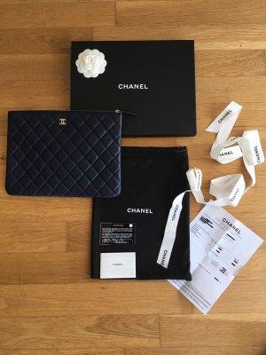 Chanel Pochette bleu foncé