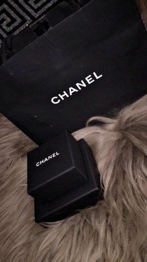 Chanel Pendientes de clip negro-marrón claro