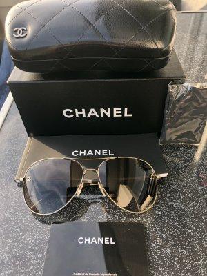 Chanel Lunettes aviateur doré-brun