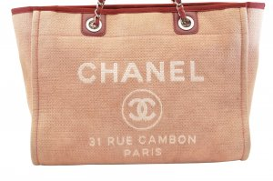 Chanel Borsa a tracolla rosa pallido Fibra tessile