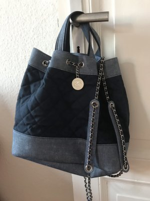 Chanel Sac Baril bleu-bleu acier
