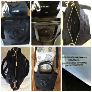 Chanel Denim Vip-Gift Makeup Schopper,Handtasche Neu Schwarz /Gold 22 x 28 x 18