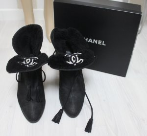 Chanel Booties black-white