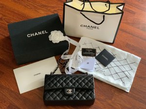 Chanel Handtas zwart-bordeaux