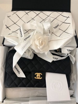 Chanel Double Flap Caviar Schwarz