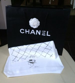 Chanel Satchel zwart-wit