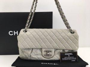 Chanel Borsa a tracolla grigio chiaro Pelle