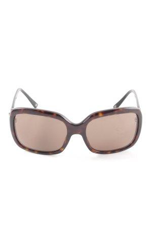 Chanel Occhiale da sole spigoloso marrone-nero stile professionale