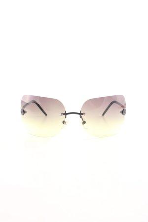 Chanel Occhiale da sole spigoloso multicolore stile casual